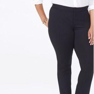 NYDJ skinny pull on black pants / leggings plus 16